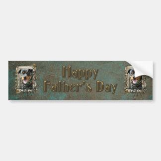 Fathers Day - Stone Paws - Rottweiler - SambaParTi Car Bumper Sticker