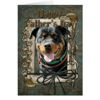 Fathers Day - Stone Paws - Rottweiler - SambaParTi Card