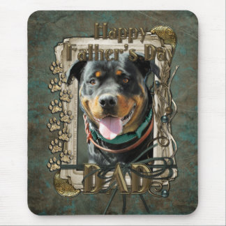 Fathers Day - Stone Paws Rottweiler SambaParTi Dad Mouse Pad