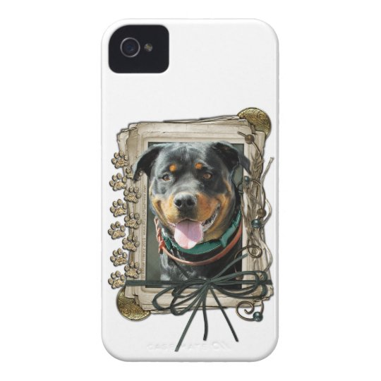 Fathers Day - Stone Paws - Rottweiler - SambaParTi iPhone 4 Case