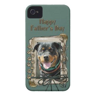 Fathers Day - Stone Paws - Rottweiler - SambaParTi iPhone 4 Case