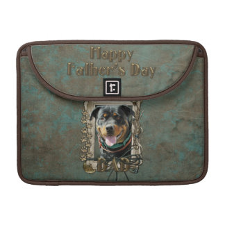 Fathers Day - Stone Paws - Rottweiler - SambaParTi MacBook Pro Sleeve
