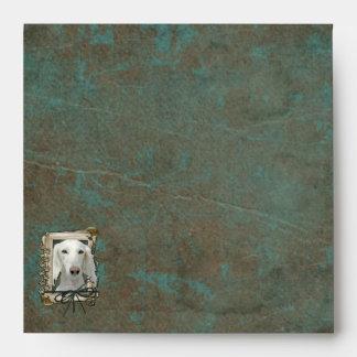 Fathers Day - Stone Paws - Saluki Envelope