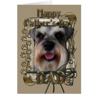 Fathers Day - Stone Paws - Schnauzer Greeting Card