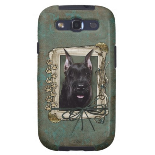 Fathers Day - Stone Paws - Schnauzer Galaxy S3 Covers