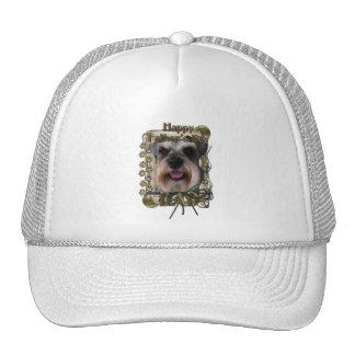 Fathers Day - Stone Paws - Schnauzer - Dad Trucker Hat