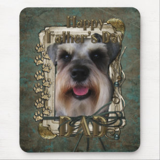 Fathers Day - Stone Paws - Schnauzer - Dad Mouse Pad