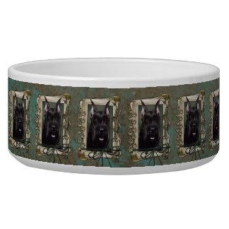 Fathers Day - Stone Paws - Schnauzer Pet Food Bowl