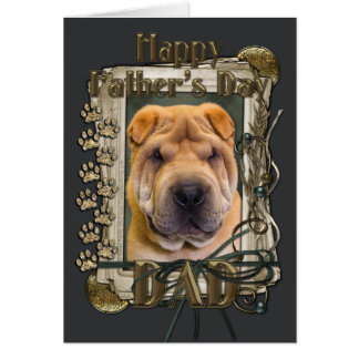 Fathers Day - Stone Paws - Shar Pei Greeting Cards