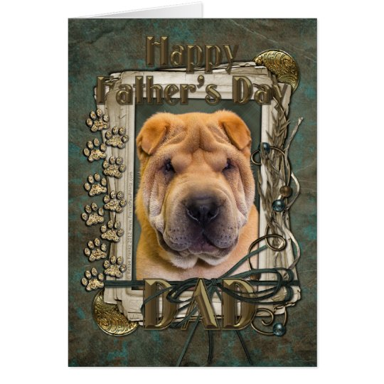 Fathers Day - Stone Paws - Shar Pei Card