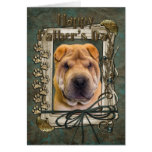 Fathers Day - Stone Paws - Shar Pei Cards