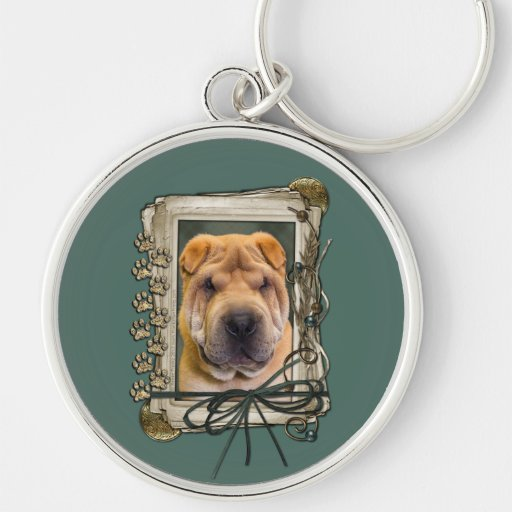 Fathers Day - Stone Paws - Shar Pei Key Chains