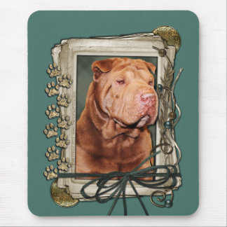 Fathers Day - Stone Paws - Shar Pei - Lucky Mouse Pad