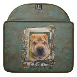 Fathers Day - Stone Paws - Shar Pei Sleeve For MacBook Pro