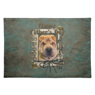 Fathers Day - Stone Paws - Shar Pei Placemat