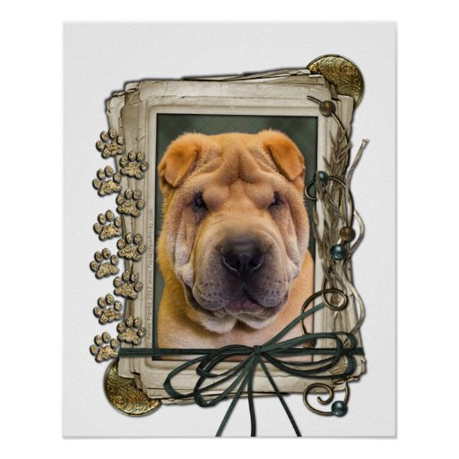 Fathers Day - Stone Paws - Shar Pei Posters