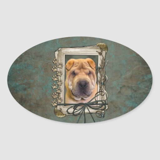 Fathers Day - Stone Paws - Shar Pei Stickers
