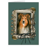 Fathers Day - Stone Paws - Sheltie Greeting Cards