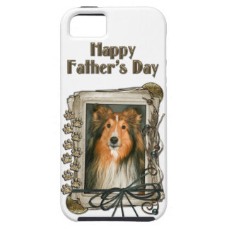 Fathers Day - Stone Paws - Sheltie iPhone SE/5/5s Case
