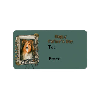 Fathers Day - Stone Paws - Sheltie Label