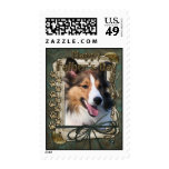 Fathers Day - Stone Paws - Sheltie Stamp