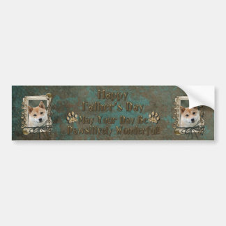 Fathers Day - Stone Paws - Shiba Inu Bumper Sticker