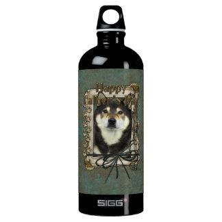 Fathers Day - Stone Paws - Shiba Inu - Yasha Water Bottle