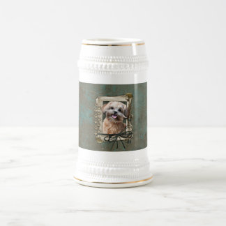 Fathers Day - Stone Paws - ShihPoo - Maggie Beer Stein