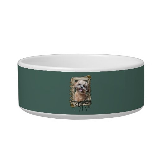 Fathers Day - Stone Paws - ShihPoo - Maggie Cat Bowl