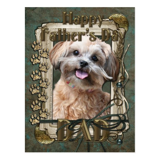 Fathers Day - Stone Paws - ShihPoo - Maggie Postcard