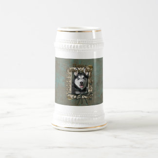 Fathers Day - Stone Paws - Siberian Husky Beer Stein