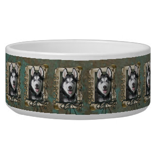 Fathers Day - Stone Paws - Siberian Husky Bowl