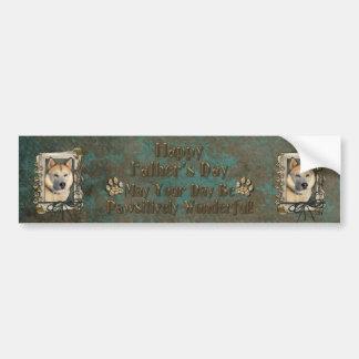 Fathers Day - Stone Paws - Siberian Husky - Copper Bumper Sticker