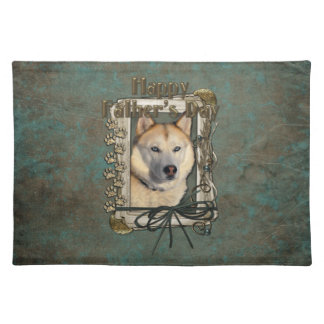 Fathers Day - Stone Paws - Siberian Husky - Copper Cloth Placemat