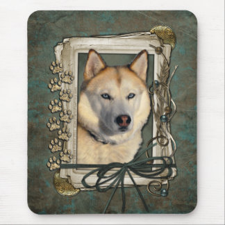Fathers Day - Stone Paws - Siberian Husky - Copper Mouse Pad