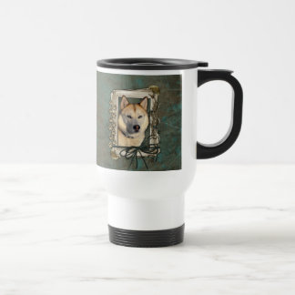 Fathers Day - Stone Paws - Siberian Husky - Copper Mug
