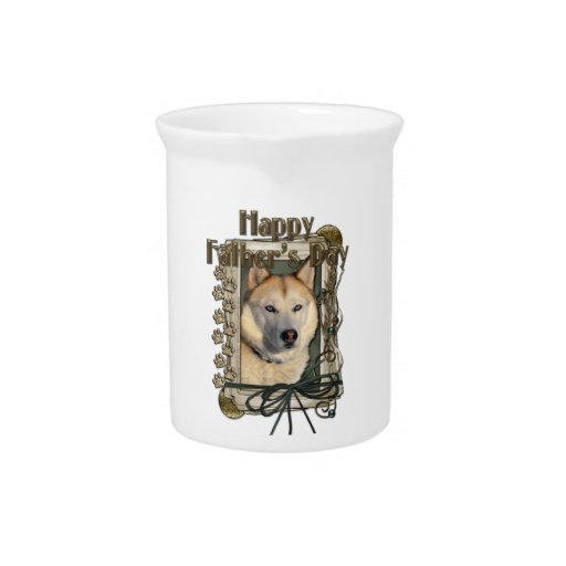 Fathers Day - Stone Paws - Siberian Husky - Copper Pitcher