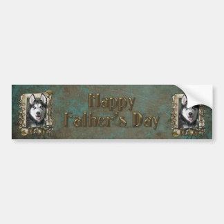 Fathers Day - Stone Paws - Siberian Husky - Dad Bumper Sticker
