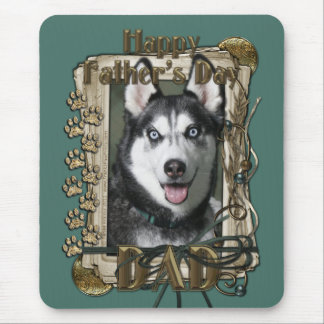 Fathers Day - Stone Paws - Siberian Husky - Dad Mouse Pad