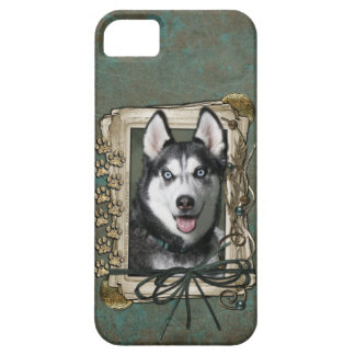 Fathers Day - Stone Paws - Siberian Husky iPhone SE/5/5s Case