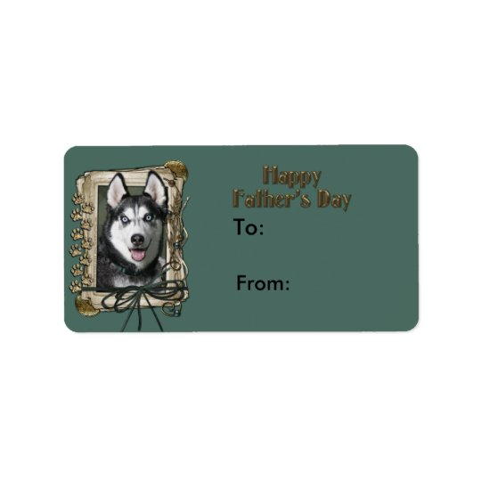 Fathers Day - Stone Paws - Siberian Husky Label