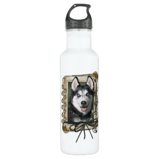 Fathers Day - Stone Paws - Siberian Husky Stainless Steel Water Bottle