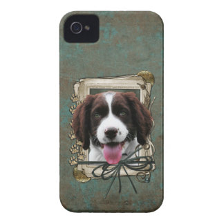 Fathers Day - Stone Paws - Springer - Baxter iPhone 4 Covers