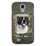 Fathers Day - Stone Paws - St Bernard - Mae Samsung Galaxy S4 Cases