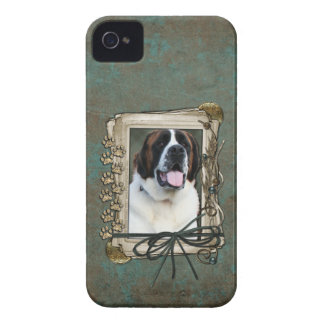 Fathers Day - Stone Paws - St Bernard - Mae iPhone 4 Case