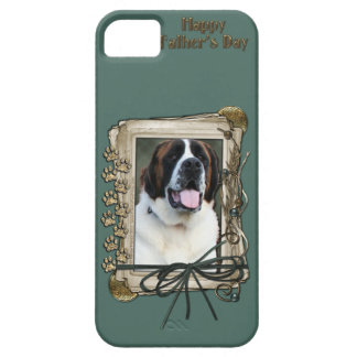 Fathers Day - Stone Paws - St Bernard - Mae iPhone SE/5/5s Case