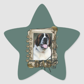Fathers Day - Stone Paws - St Bernard - Mae Star Sticker