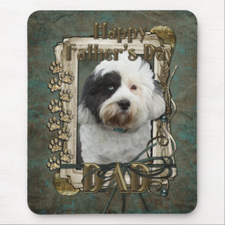 Fathers Day - Stone Paws - Tibetan Terrier - Dad Mouse Pad