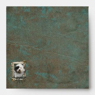 Fathers Day - Stone Paws - Tibetan Terrier Envelope