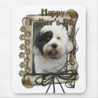Fathers Day - Stone Paws - Tibetan Terrier Mouse Pad